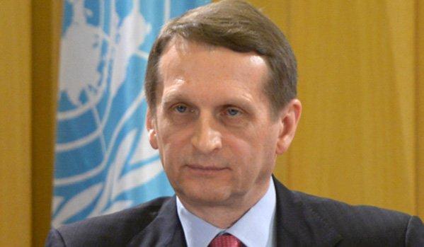 Nariskin a Krím annektálásával vádolja Ukrajnát
