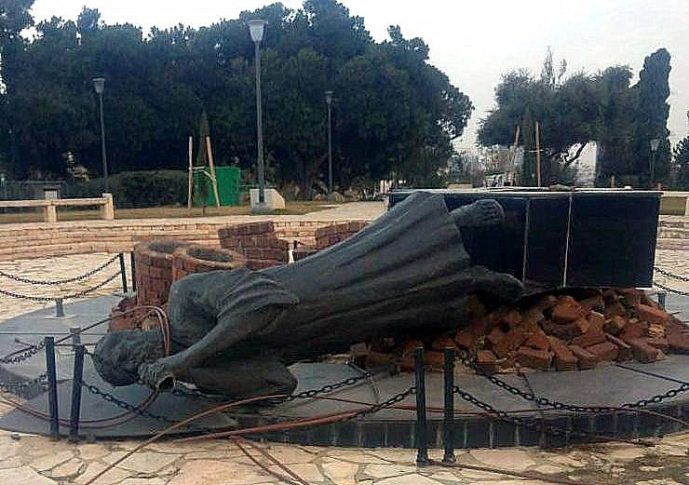 Holokauszt-emlékművet döntöttek le – nem az antiszemita Budapesten, hanem Izraelben