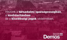 A romániai magyaroknak is üzent a Demos egy közleményben