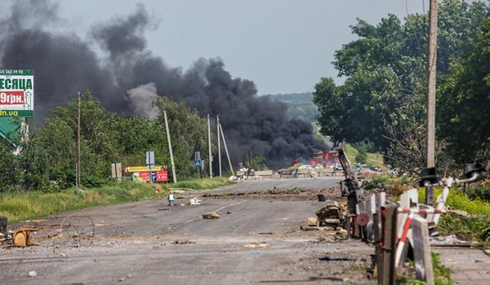 Tűz alatt Szemenivka: Szlovianszk külvárosára gyújtóbombákat dobtak