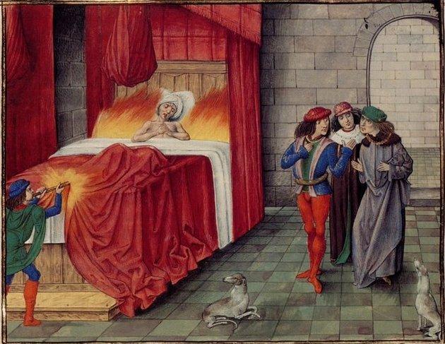 II. Károly navarrai királyt véletlenül élve elégette egy ügyetlen szolgálónő