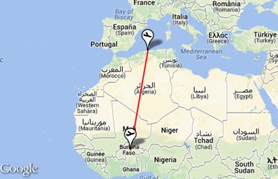 Eltűnt egy utasszállító Burkina Faso felett