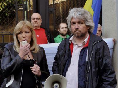 Pozsonyban a Krím-félsziget orosz megszállása ellen tüntettek