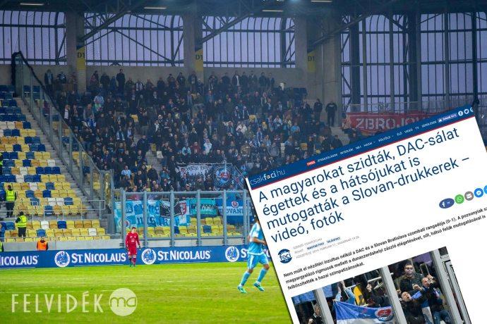 Feljelentés a Slovan-szurkolók ellen garázdaság és nemzetgyalázás gyanújával