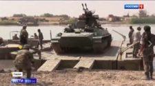 Nagy kiterjedésű területet szabadítottak fel az Eufrátesz-folyó nyugati partján (videó)