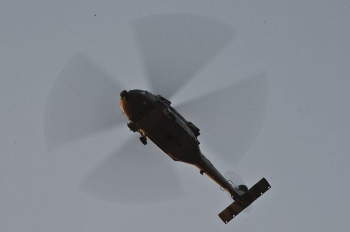 Lángolva csapódott a város közepébe a helikopter