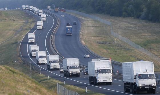 Nekiindult a határnak az orosz konvoj