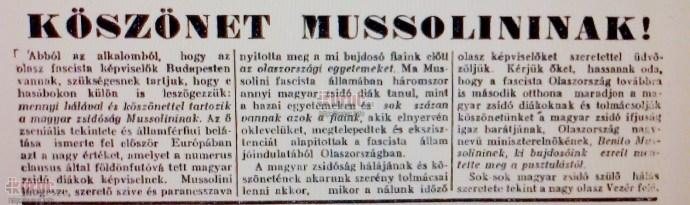 Egy kis adalék a holokauszt-emlékévhez: a nap, amikor a magyarországi zsidó ifjak fasiszta szervezetet alapítottak Mussolini Olaszországában
