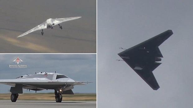 Az oroszok titkos drónjának első repülése (videó)
