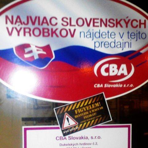 """A """"magyar üzletlánc"""" tovább vonakodik a magyar nyelv használatától a Felvidéken – A további fejleményekig kerüljük a CBA-t!"""