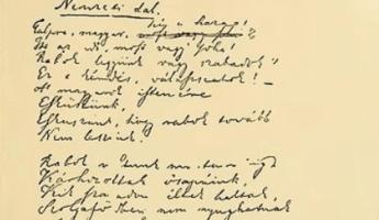 Szenzáció jön, a Nemzeti dal eredeti kézirata