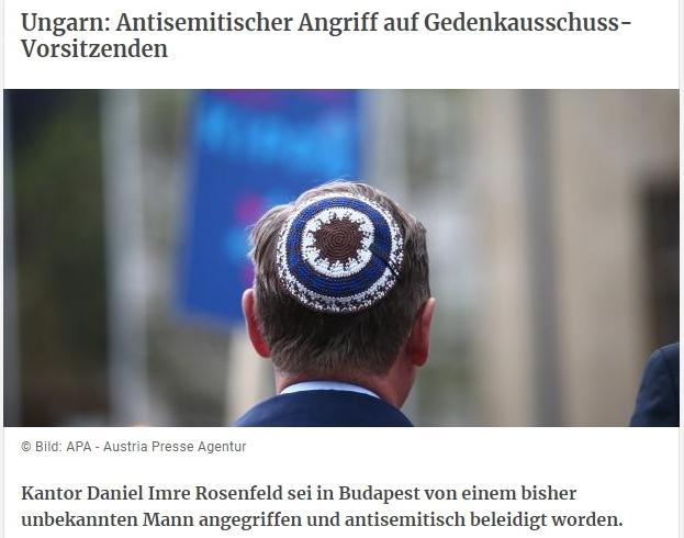 Rosenfeld Imrét antiszemita jellegű támadás érte!