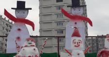 Nem volt fagyos a hangulat, pedig hóemberek szurkoltak a Sepsi csapatának