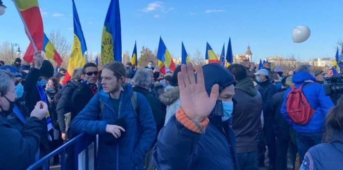 A kötelező védőoltások ellen tüntettek Bukarestben
