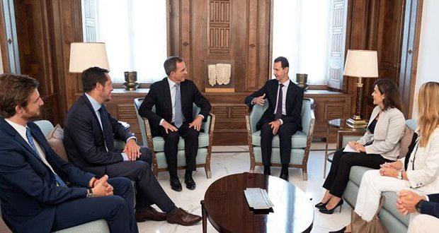 Francia delegáció érkezett Bashar Al-Assad elnökhöz Szíriába