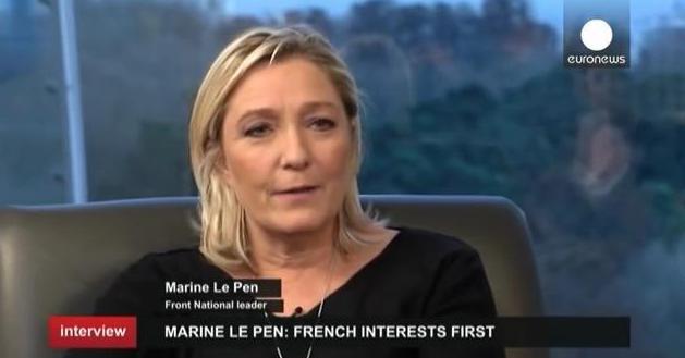 """LePen: """"Én azért vagyok itt, hogy a francia nép bőrét mentsem"""" (Videóval)"""