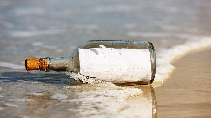 37 évet utazott partot érése előtt egy palackposta