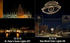 Új Világrend szimbólumok Bolognában az 1980-as merénylet helyszínén – A Vatikán elsötétülve karácsony előtt