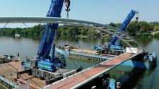 Fotók jöttek az új Tisza-híd építéséről