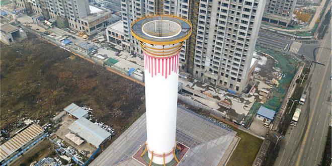Működik Kína csodatornya: a 60 méter magas torony csak úgy szívja magába a szennyezett levegőt