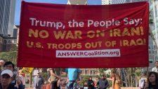 Amerikai veteránok tüntettek egy új háború kirobbantása ellen