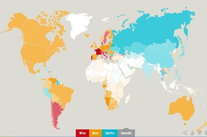 Elkészült a világ interaktív alkoholtérképe