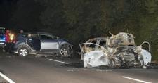 Tragikus baleset a 33-as főúton: meghalt egy autós, a jármű szinte megsemmisült