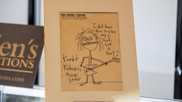 Huszonnyolcszoros áron kelt el Kurt Cobain önmagáról rajzolt karikatúrája
