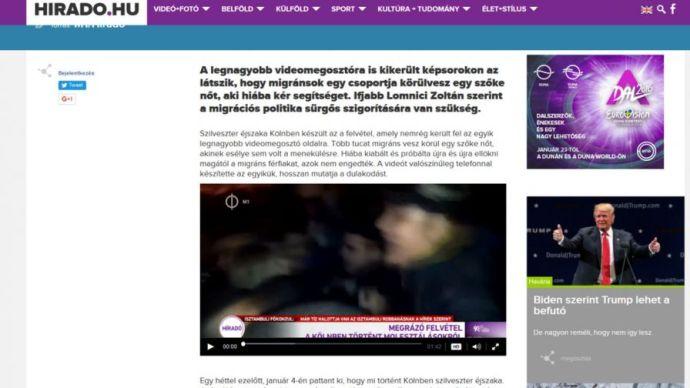 Kamuvideóval illusztrálta a kölni eseményeket az MTVA