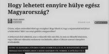 Az Index egyszerűen lehülyézte Magyarországot a választása miatt