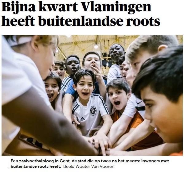 Színesedik Belgium, Flandria lakóinak csaknem negyede külföldi származású