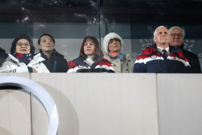 Faképnél hagyta az észak-koreai diktátor húgát az amerikai alelnök