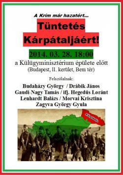 A Krím már hazatért – Tüntetés Kárpátaljáért