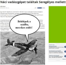Náci vadászgépet találtak Seregélyes mellett