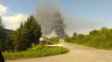 Hatalmas lángokkal ég a királyszentistváni hulladéklerakó – videó