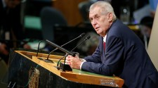 Zeman cseh elnök ENSZ-beszédében ment neki Trumpnak