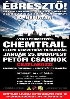 A Chemtrail népirtás! – Tiltakozás a vegyi permetezés ellen január 25-én (videóval)