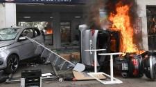 Május 1-jei lángocskák Párizsban, videóval