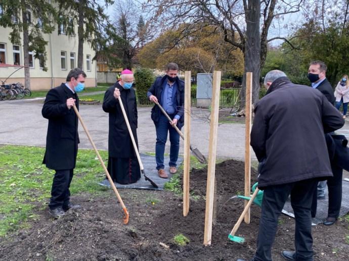 Teremtésvédelem a gyakorlatban – Az egri érsekkel ültettek fát Füzesabonyban