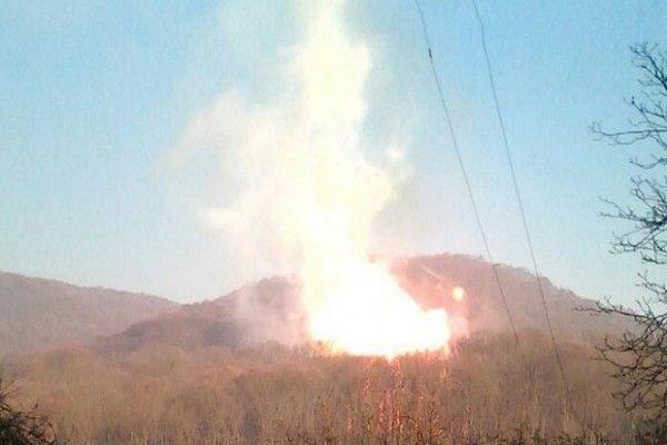 Felrobbant a Szojuz földgázvezeték Huszt közelében
