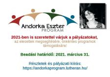 2021-ben is várják a pályázatokat az Andorka Eszter Programra