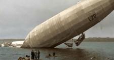 Színes képek az Angliát bombázó német Zeppelinekről