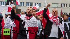 A lengyelek több nagyvárosban is utcára vonultak a közel-keleti migránsáradat ellen