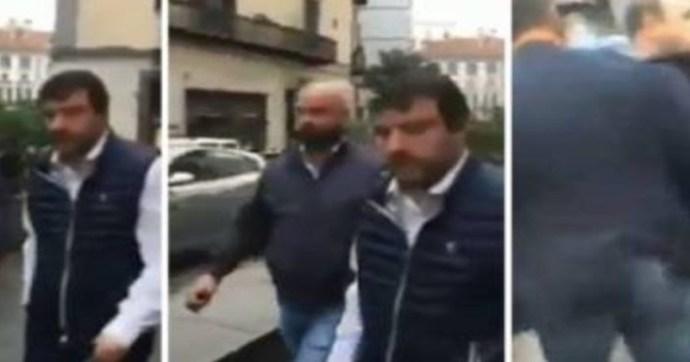 Antifasiszták támadtak Matteo Salvinire