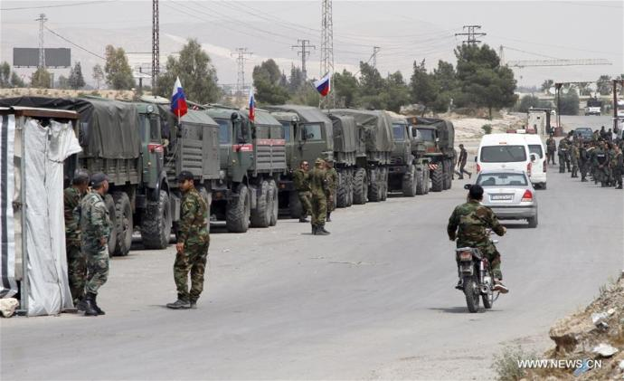 Orosz katonai egységeket telepítettek a szír Dúma városába