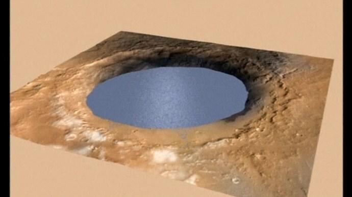 Bizonyítékot találtak arra, hogy a Marson tó volt