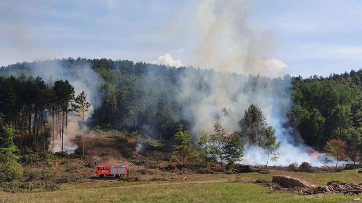 Erdőtűz pusztított Szilvásváradnál – képek