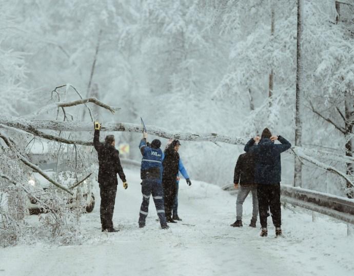 Mindössze tíz centiméternyi hó hullott, de szinte így is teljesen megbénult tőle Kelet-Szlovákia