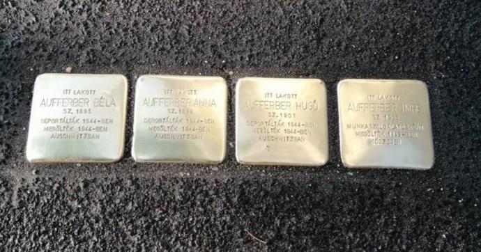 """Hajdúszoboszlón szétverték a frissen lerakott holokauszt """"botlatóköveket"""""""