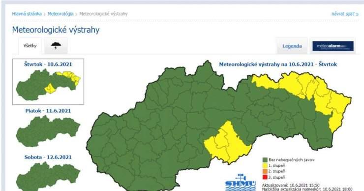 Besztercebánya megye három járásában viharriasztás lépett érvénybe
